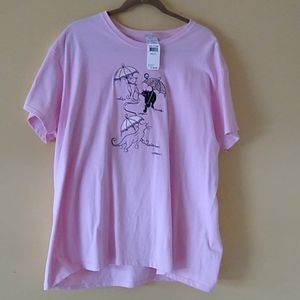 Pink  Kitty T shirt by Top Stitch .
